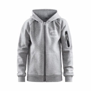 Mikina CRAFT District Hood Zip JR
